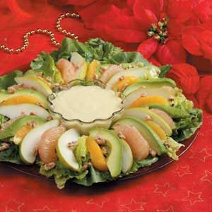 Winter Salad with Orange Cream