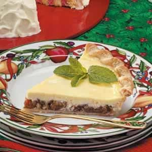 Sour Cream Plum Pie