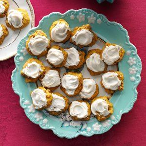 Pumpkin Cookies with Penuche Frosting