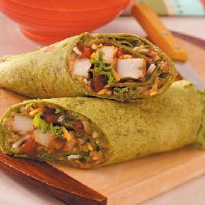 Guacamole Chicken Wraps for Two