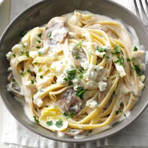 Artichoke Blue Cheese Fettuccine