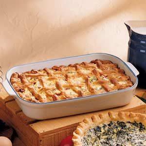 Lattice Sausage Pie