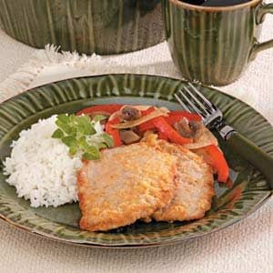 Veal Cutlet with Red Peppers
