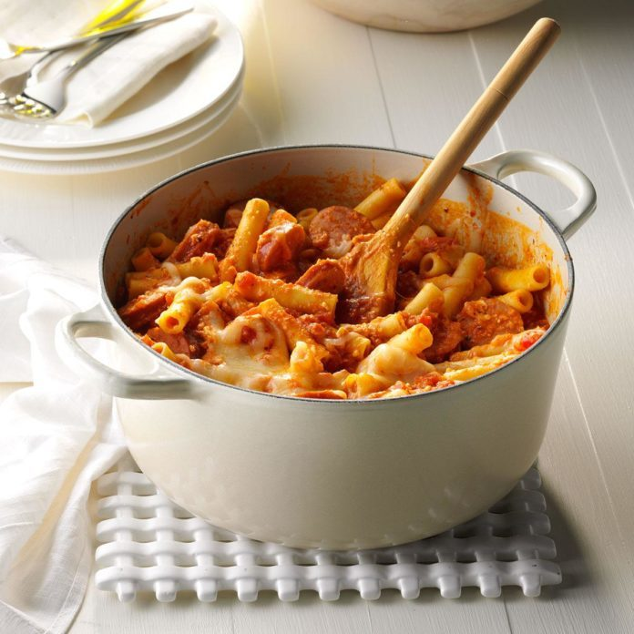 Fire-Roasted Ziti with Sausage