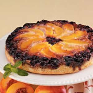 Cherry Nectarine Upside-Down Cake