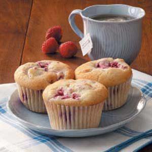 Walnut Raspberry Muffins