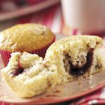 Raspberry-Filled Poppy Seed Muffins