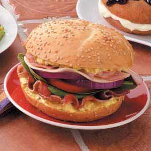 Zesty Bacon 'n' Ham Sandwiches