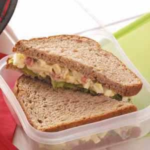Roasted Pepper 'n' Egg Salad Sandwiches