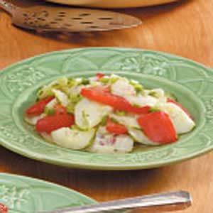 Cucumber Tomato and Green Onion Salad