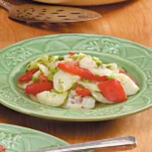 Cucumber Tomato and Green Onion Salad