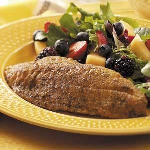 Herb-Crusted Red Snapper