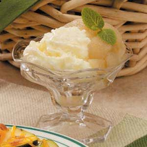 Warm Pear Sundaes