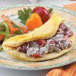Fluffy Sausage Omelet