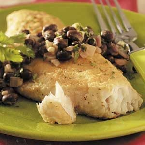 Red Snapper with Black Beans