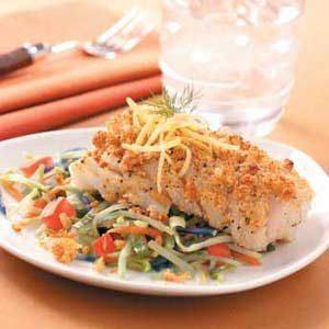 Crispy Cod with Veggies