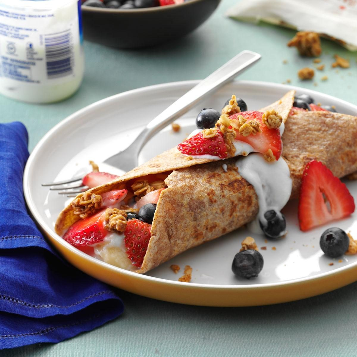 Day 1 Breakfast: Fruit-Filled French Toast Wraps