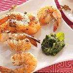 Grilled Shrimp with Cilantro Sauce