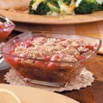 Layered Rhubarb Crisp