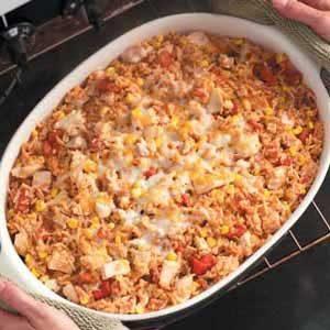 Spanish Rice Turkey Casserole