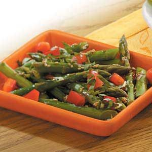 Asparagus with Sesame Vinaigrette