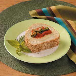Basil Red Pepper Sandwiches