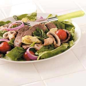 Artichoke Grilled Steak Salad