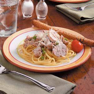 Pasta with Sausage Cream Sauce