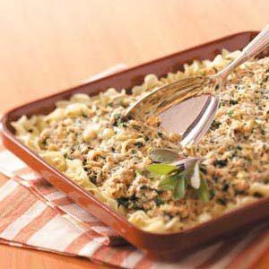 Makeover Spinach Tuna Casserole
