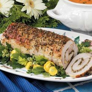 Roasted Herb-Stuffed Pork Loin