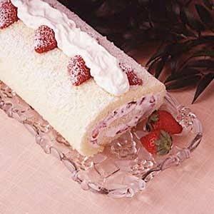 Strawberry Cream Cake Roll