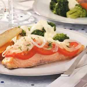Tomato and Onion Salmon
