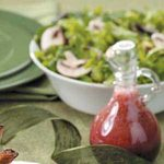 Greens and Mushrooms with Raspberry Dressing