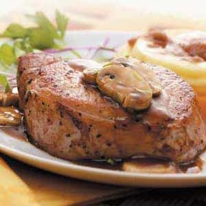 Tarragon Chops with Mushrooms