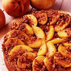 Peachy Sour Cream Coffee Cake