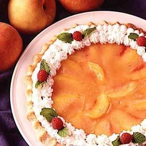 Glazed Peach Pie