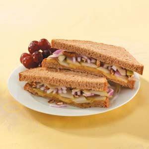 Swiss Pear Sandwiches