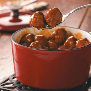 Hearty Sweet and Tangy Meatballs