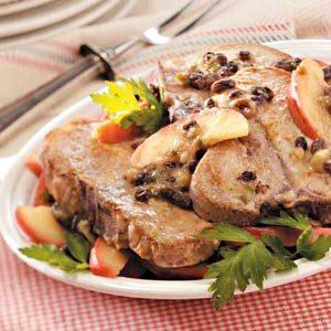 Apple-Raisin Pork Chops