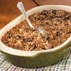 Mushroom Barley Casserole