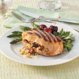 Cherry-Stuffed Pork Chops