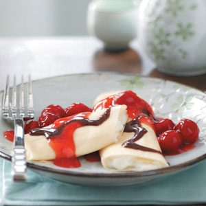 Cherry Chocolate Crepes