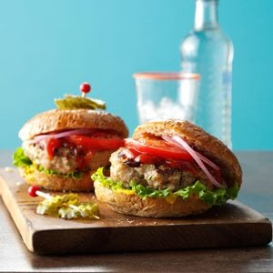 Grilled Ground Turkey Burgers