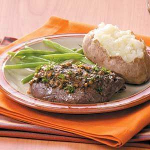 Saucy Tenderloin Skillet Steaks