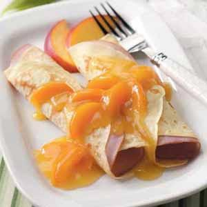 Ham and Apricot Crepes