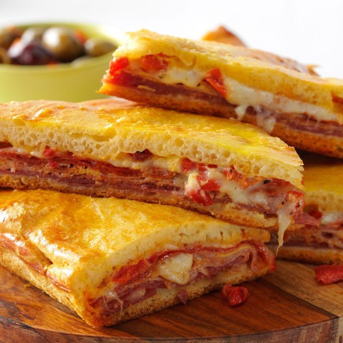 Hot Antipasto Sandwiches