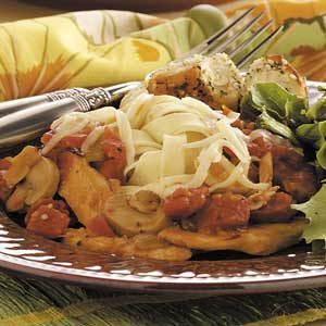Chicken Chili Fettuccine