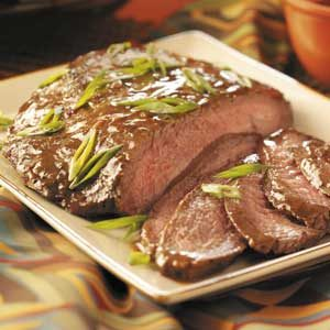 Flank Steak with Wine Sauce