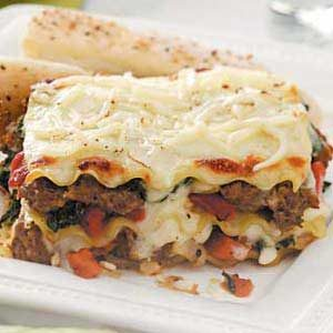 Spinach and Turkey Sausage Lasagna