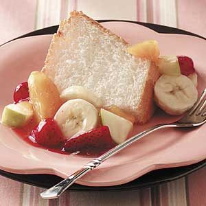 Angel Food Cake with Fruit